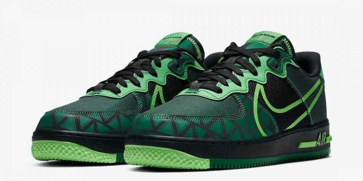"New Sale Nike Air Force 1 React ""Naija"" CW3918-001 release to  October 1st 2020"